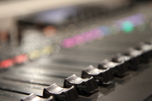 a photograph that I took of the mixing desk